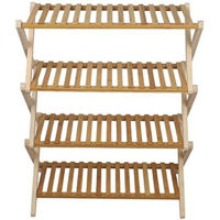 Picture of Yatai 4 Tier Foldable Bamboo Shoe Rack Free