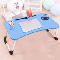 Picture of WJMLS Foldable Laptop Bed Table, Blue
