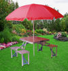 Foldable & Portable Outdoor Aluminum 4-Seater Table, Silver Online Shopping
