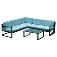 Picture of Swin Outdoor Garden Aluminum 5 Seater Sofa Set, Light Blue - HO427-SF