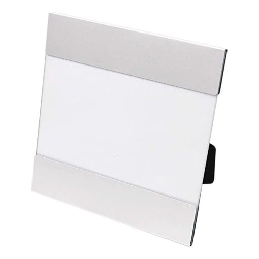 Aluminum and Glass Horizontal Photo Frame, Silver Online Shopping