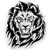 Lion Head Metallic Car Sticker Emblem Online Shopping