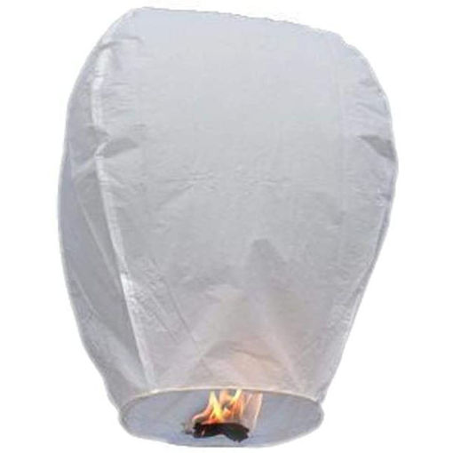 10 Pcs White Wire Free Sky Lanterns Kongming Lights With Fuel Online Shopping