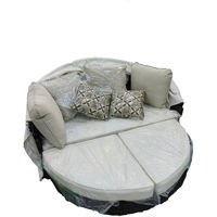 Picture of Outdoor Rattan Sunbed Set With Tent, Beige
