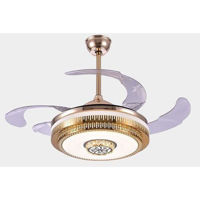 Picture of LED Ceiling Fan Light, MD-FLD0265RF-Y, Nickel