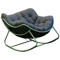 Picture of Swin Outdoor Urban Faux Fur Chair With Iron Frame, Grey - H0382-GR