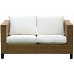 Swin Outdoor Garden Rattan 2 Seater Sofa, Beige & Brown - H0419-SF Online Shopping