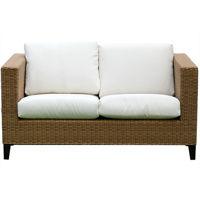 Picture of Swin Outdoor Garden Rattan 2 Seater Sofa, Beige & Brown - H0419-SF