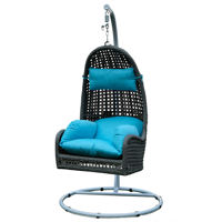 Picture of Swin Rattan Hammock Swing Chair, Blue - H0300-BR