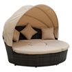 Swin Outdoor Garden Rattan Round Daybed Sofa Set, Beige - H0373-BL Online Shopping