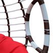 Swin Rattan Hammock Swing Chair - Red & White - H0400-SW Online Shopping