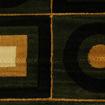 Mega Carpets Modern Decor Turkish Carpet, Black & Gold - 150 x 230cm Online Shopping