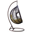Rattan Swing Chair With Cushion, Brown & Green Online Shopping