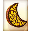Concord Ramadan Wooden Hilal Moon LED Light, Multi Colour Online Shopping