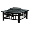 Outdoor Garden Square Fire Pit with Cover - Bronze Online Shopping