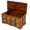 Vintage Design Storage Chest, Brown Online Shopping