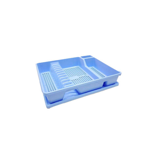 Kitchen Dish Rack Drainer With Tray Blue Online Shopping