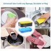 Idealline Soap Dispenser and Sponge Holder for Kitchen - Grey, 13 ounces Online Shopping